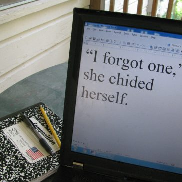 """""""I Forgot One,"""" She Chided Herself"""