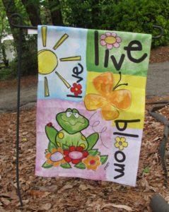 Live Bloom Yard Flag