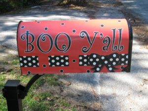 Mailbox with Boo Y'all Wrap