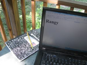 """Rangy"" on computer screen"
