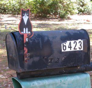 Cat Mailbox Flag