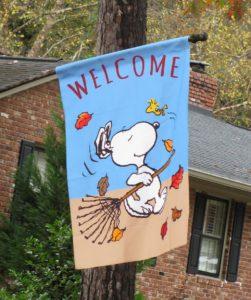 Snoopy Yard Flag