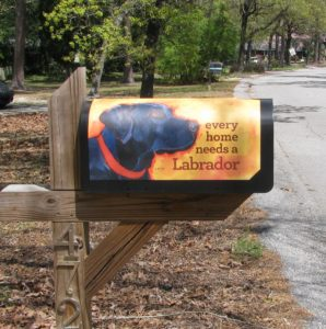 Labrador Retriever Mailbox Wrap