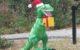 Dinosaur in Santa Hat