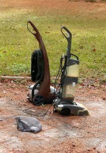 Vacuum Cleaners in Yard